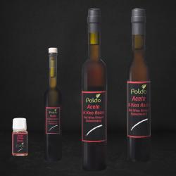 Grafica diverse grandezze di aceto rosso di vino